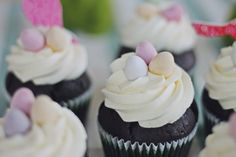 Easter filled cupcakes