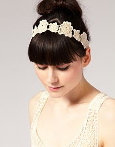 Lipsy Crochet Flower Head Band