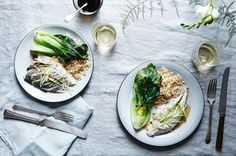 Steamed Fish with Ginger & Scallions