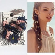 NWT Free People Floral Hair Clip Blue and pink flowers on a hair clip. Perfect for the beach and or concerts. Tag marked. Also in white as seen on model. See separate listing. No trades. Generous discount with bundle. Please request new listing. Free People Accessories Hair Accessories