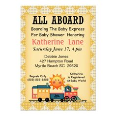 435 best train baby shower invitations images on pinterest baby train baby shower invitation filmwisefo