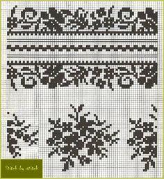 Cross Stitch Borders, Cross Stitch Charts, Cross Stitch Embroidery, Embroidery Patterns, Cross Stitch Patterns, Crochet Patterns, Fair Isle Knitting Patterns, Knitting Charts, Pillowcase Pattern