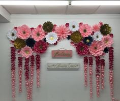 This pretty cool idea of decorating the wall with paper flowers     A personal favorite from my Etsy shop https   www etsy com