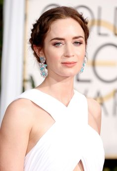 We love a braid moment on the red carpet, especially when it's paired with a bold brow.   - ELLE.com