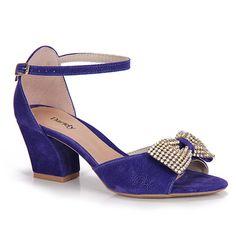 Sandalia Salto Dariely 1185  - Azul