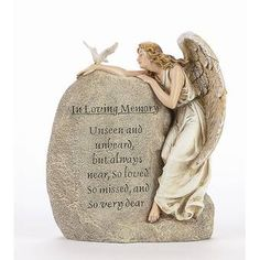 Concrete Statues, Stone Statues, Decorative Garden Stones, Cemetary Decorations, Goodbyes Are Not Forever, Cemetery Angels, Concrete Materials, Hand Painted Wallpaper, Garden Angels
