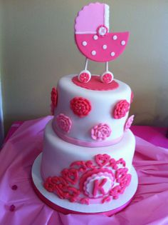 The CUTEST baby girl shower cake for my Kendra Joy  @Amanda Bell
