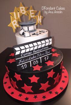 Tarta en fondant cine. DFondant Cakes