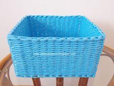 EkoWyplatanki: Koszyk niebieski i zielony