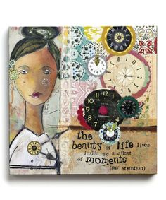 Look what I found on #zulily! 'The Beauty of Life' Gallery-Wrapped Canvas by Kelly Rae Roberts #zulilyfinds