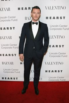 Actor Luke Evans in a Valentino tuxedo at Lincoln Center Corporate Fund Black Tie Gala on December 7, 2015 in New York City.