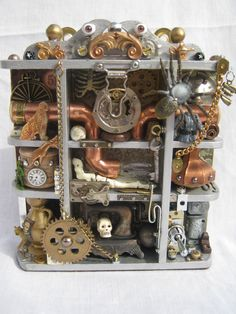 SOLD! A Steampunk shadow box. To see my latest items for sale please click here: http://myworld.ebay.co.uk/nostalgic-crafts