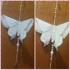 Pendente de borboleta. Disponível. #origami #borboletas #feitoamão