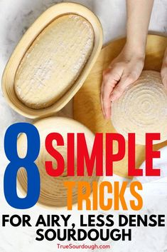 Is your homemade sourdough bread too dense? Learn these tips to make your sourdough bread less dense and more airy and open crumb, with a softer textured sourdough bread. Sourdough Bread Starter, Sourdough Recipes, Bread Recipes, Sourdough Bread Healthy, Sourdough Baguette Recipe, Starter Recipes, Cooking Bread, Bread Baking, Baking Tips