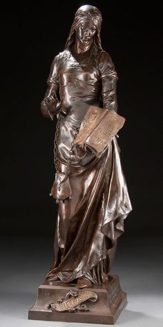 'Charity-Bien Faisance,' A French Bronze Figure by Emile Louis Picault.