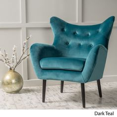 Modern Wingback Armchair Tufted Back Living Room Velvet Upholstered Accent Chair for Living Room Guest Reception and More Dark Teal *** Click picture to examine even more information. (This is an affiliate link). Living Room Chairs, Living Room Furniture, Dining Chairs, Dining Room, Arm Chairs, Furniture Stores, Folding Chairs, Lounge Chairs, Cheap Furniture
