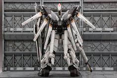 MG 1/100 Hi-Nu Gundam-S - Custom Build     Modeled by 310     Mixed build using MG Sinanju Stein + MG Nu Gundam Ver. Ka