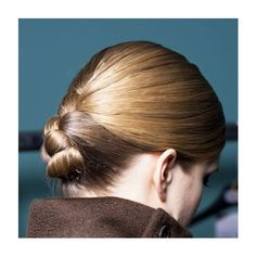 Ballerina bun tutorial with sleek straight hair ❤ liked on Polyvore featuring beauty products, haircare and hair styling tools