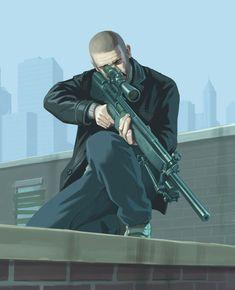 Grand Theft Auto IV Art & Pictures, Sniper I think this is Johnny from lost and damned .. Is it? Not too sure ❓