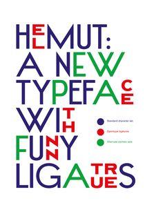 """Helmut  Typographie , 2010    Création typographique originale à partir d'un caractère issu du journal """"L'Illustration"""". Typographie utilisée pour le projet Beautiful Banal."""