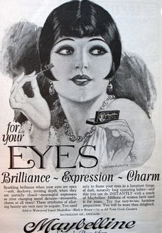 1920's vintage makeup ad
