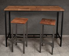 Deco Loft - Bar Table / Island Table - Model: After Office - Industrial Style Furniture Sushi Sun, Sala Set, Industrial Style Furniture, Island Table, Iron Furniture, Steel Table, House Layouts, Sweet Home, New Homes