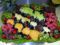 fruit tray for jungle themed baby shower, wow