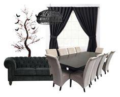 """Dark room"" by melady0202 on Polyvore featuring interior, interiors, interior design, дом, home decor, interior decorating и ExceptionalSheets"