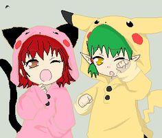 Baby Kisshu and baby Ichigo by Mew-Tiger on deviantART