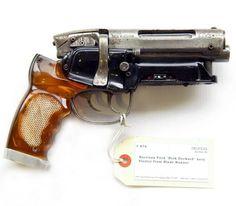 "Deckard's gun from Blade Runner. ""Nothing's worse than an itch you can't scratch."""