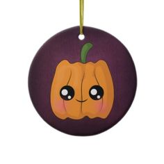 Calabaza de Halloween Kawaii Ornamentos De Reyes Magos