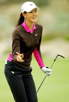 Michelle Wie LPGA. She looks great in all her outfits but this one is especially cute.