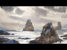 """Advancing with Watercolor: Edges """"Shimmering Light on Water"""" - YouTube"""