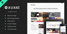 Aware - Responsive #Wordpress Portfolio Theme $35 #wp