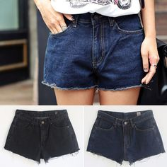 Qnigirls New Womens Toy Day Cropped Mini Denim Shorts Cute Lovely Style #Qnigirls #Denim