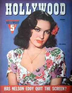 "Linda Darnell on the front cover of ""Hollywood"" magazine, USA, January Old Hollywood Movies, Vintage Hollywood, Hollywood Glamour, Classic Hollywood, Hollywood Actresses, Star Magazine, Movie Magazine, Life Magazine, Magazine Stand"