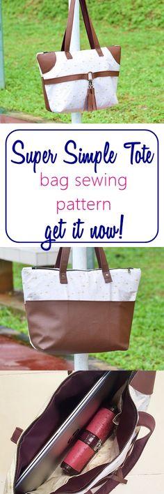 trendy bag pattern | easy tote bag sewing pattern | bag sewing patterns