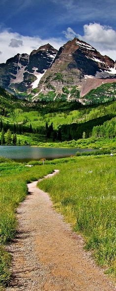 Maroon Lake, Colorado, USA // For premium canvas prints & posters check us out at www.palaceprints.com