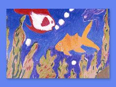 """Snorkel Scene lesson plan- this integrates science and art really well. It corresponds to the part in the article titled """"Water"""".  I would take the students on a field trip to the aquarium and ask them to draw what they see in the various tanks.  Then we would go back to the class room and they would take their rough sketches and turn them into their art project.  I will also have pictures of various fish around the room that the children can reference."""
