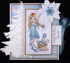 Suzie's Card Den: Fashionista - Blue Christmas - Saturated Canary Nutcracker