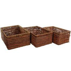 Oriental Furniture Hand Woven Space Saver Basket
