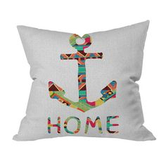 I pinned this Bianca Green You Make Me Home Throw Pillow from the Painter's Palette event at Joss and Main!