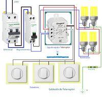 Esquemas eléctricos: Cableado de telerruptor
