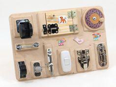 BUSY BOARD Activity board Sensory board Wooden Montessori toy