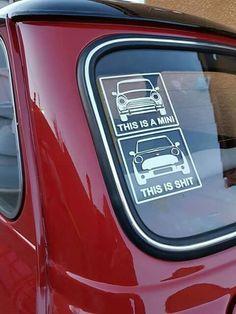 It's a matter of opinion Mini Cooper Classic, Mini Cooper S, Rover Mini Cooper, Cooper Car, Classic Mini, Minis, Classic Cars British, Mini Clubman, Mini Things