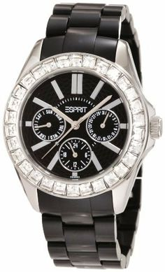 ESPRIT Women's ES105172005 Dolce Vita Plastic Black Analog Watch Esprit. $84.77. 30 m. Mineral crystal. Quartz movement. Case diameter: 37 mm. Multifunction, stainless steel case. Save 42%!