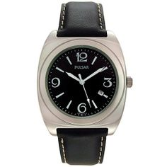 Pulsar Men's PXDA07 Europa Watch Pulsar. $49.99. Quality Japanese-Quartz movement. Mineral crystal. Stainless-steel case; Black dial; Date function. Case diameter: 39 mm. Water-resistant to 99 feet (30 M)
