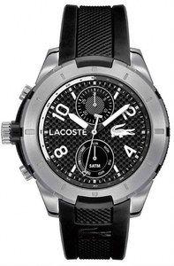 Lacoste Quartz Multifunction Dial Black Silicone Watch# 2010759 (Men Watch)