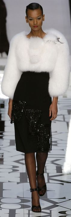 Valentino. Love that fur.  TG