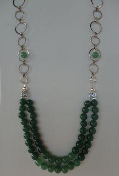Dark Green Aventurine  http://damalijewelry.com/necklaces.html